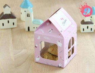 กล่องบ้านไซส์ S ลาย Home Pink Small
