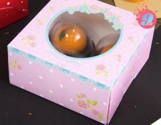 กล่องเค้ก 1 ปอนด์ กุหลาบ