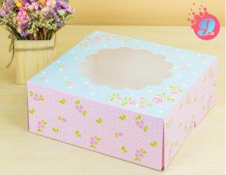 กล่องเค้ก 3 ปอนด์ กุหลาบ