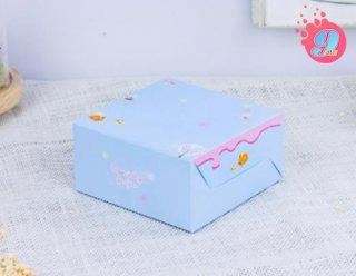 กล่องสแน็คเล็ก สีฟ้าลายกระต่าย