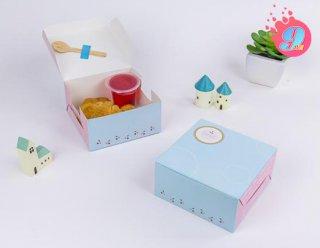 กล่องสแน็คเล็ก สีฟ้าเชอร์รี่