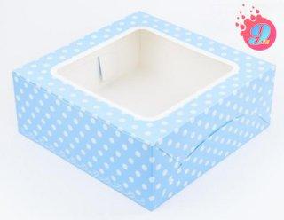 กล่องเค้ก 3 ปอนด์ ฟ้าจุด