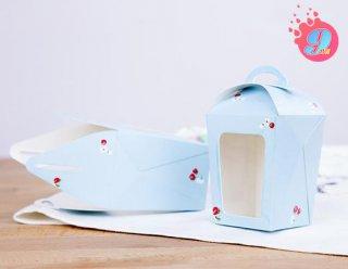 กล่องมูส สีฟ้า (กล่องขนมเล็ก)