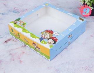 กล่องเค้ก 1 ปอนด์ทรงเตี้ย Coco & Lime 001