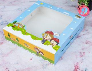 กล่องเค้ก 2 ปอนด์ทรงเตี้ย Coco & Lime 001