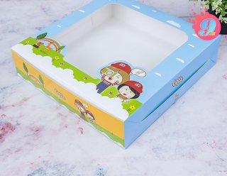 กล่องเค้ก 3 ปอนด์ทรงเตี้ย Coco & Lime 001