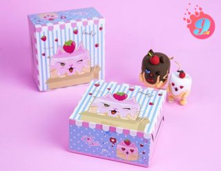 กล่องสแน็คไม่มีหน้าต่าง ลาย Catcake 001