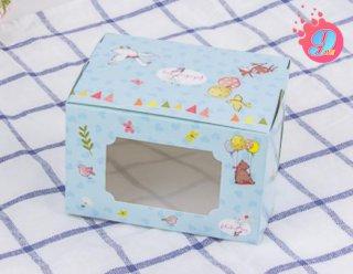 กล่องเค้ก 1 ชิ้น เทดดี้ & เฟรนด์