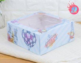 กล่องเค้ก 2 ปอนด์ ลายปารีส