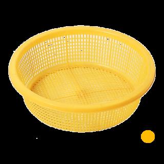 กระจาดกลม เหลือง #438Y