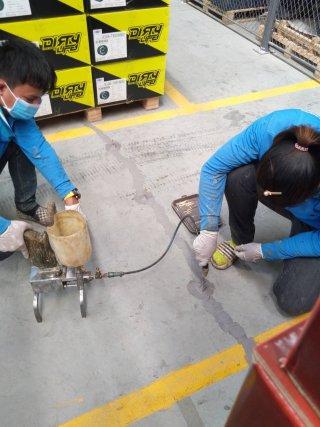 งานซ่อมรอยแตกร้าวของผิวคอนกรีต จังหวัดพิษณุโลก