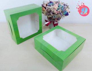 กล่องเค้ก 3 ปอนด์ ลายใบตอง