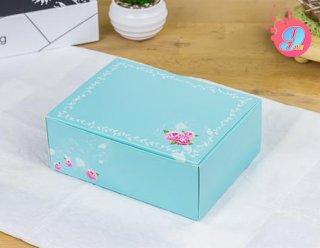 กล่องสแน็คสีเขียวมิ้นท์ 15.5 x 11.5 x 6 ซม.