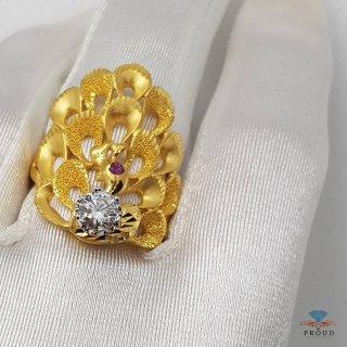 แหวนนกยูงคาบเพชร DRG 0190