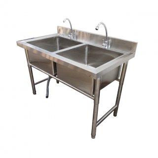 ซิงค์ล้างจานสเเตนเลสแบบ2หลุมพิเศษ รุ่น :SC-126580H