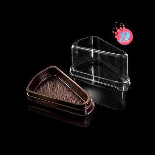 กล่องเค้กสามเหลี่ยมสีน้ำตาล E-61