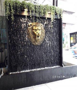 ม่านน้ำตกหัวสิงห์ทอง 170x160 cm.