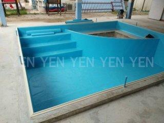กันซึมแผ่น Blue PVC Membrane