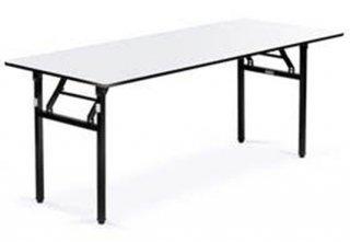 โต๊ะพับขาสปริงล็อค หน้าฟอเมก้าขาว TOP