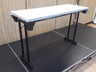 โต๊ะพับขาคู่ หน้าฟอเมก้าขาว เมลามีน TOP หนา 25 มิล