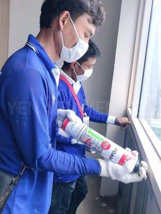 ซ่อมแซมน้ำรั่วซึมด้วย PU Foam