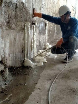 ซ่อมรอยแตกร้าวด้วย PU Foam