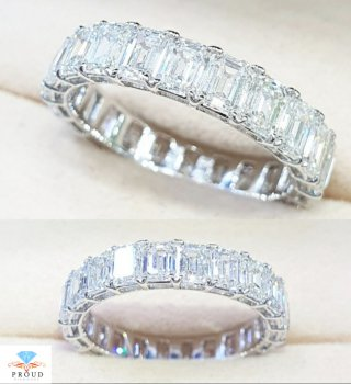 แหวน Eternity Emerald Diamond