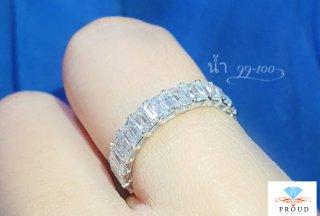 แหวน Eternity Emerald Diamond