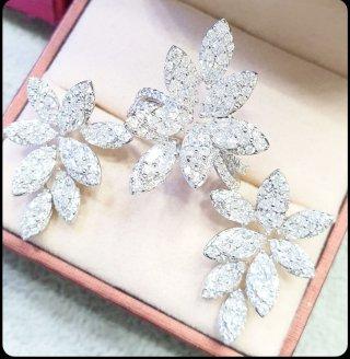 Marquise Carrat Diamond Leaf SET