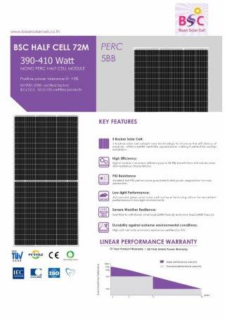 BSC Solar PV Mono Half Cell 400w