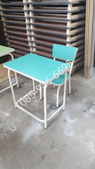 โต๊ะอนุบาลเดี่ยว ลามิเนตสี