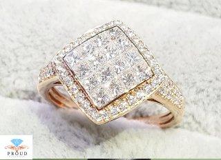 แหวนเพชรไร้หนาม สีโรสโกลด์