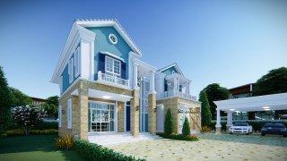 แบบบ้าน2ชั้น American luxury style