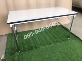 โต๊ะพับหน้าโปร่ง โฟเมก้าสีขาว หนา 25 มิล
