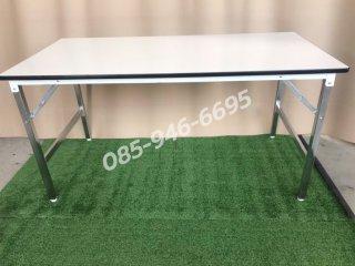 โต๊ะพับหน้าไม้อัด ทนน้ำ หนา 19 มิล หน้าโฟเมก้าขา