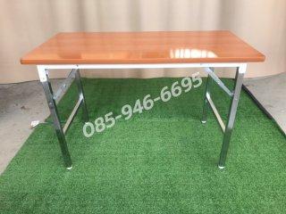 โต๊ะพับหน้าเมลามีนลายไม้หน้า 25 มิล