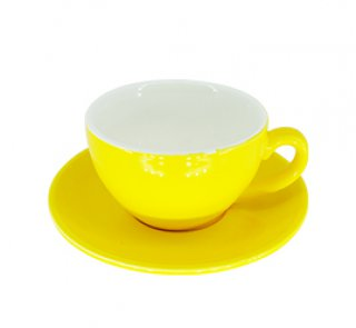 ชุดแก้วเซรามิค Capuccino Luciano 10 oz สีเหลือง