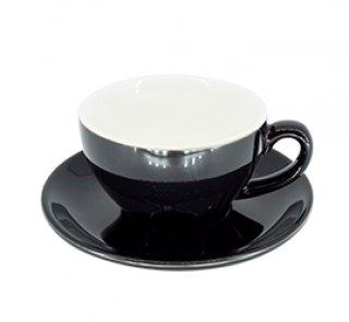 ชุดแก้วเซรามิค Capuccino Luciano 10 oz สีดำ