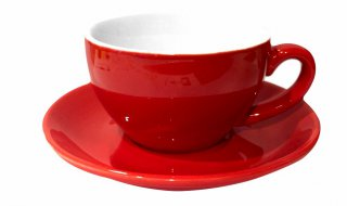 ชุดแก้วเซรามิค Capuccino Luciano 8 oz สีแดง