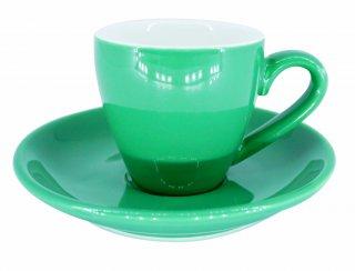 ชุดแก้วเซรามิค Espresso Luciano 2 oz สีเขียว