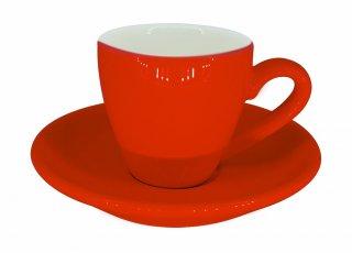 ชุดแก้วเซรามิค Espresso Luciano 2 oz สีแดง