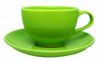 ชุดแก้วเซรามิค 7 oz สีเขียว
