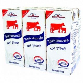 (แพ็ค) นมวัวแดง จืด 200มล. (1*6)