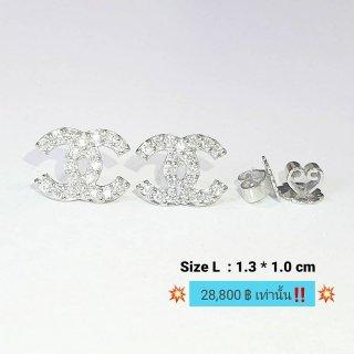 ต่างหูเพชร Chanel Size : L