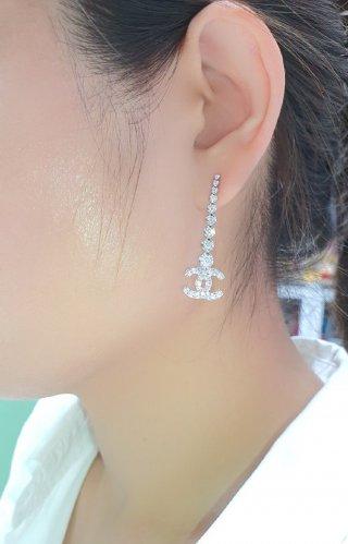 ต่างหูเพชร Chanel Diamond Long