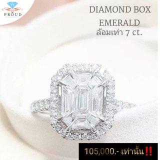 แหวนเพชร Emerald 7.00 carat