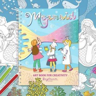 สมุดระบายสีฝึกสมาธิ Mermaid Art Book