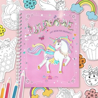 สมุดระบายสีฝึกสมาธิ Unicorn Art Book
