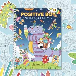 สมุดระบายสีฝึกสมาธิ Positive Boy Art Book