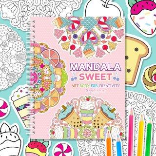 สมุดระบายสี Mandala Sweet Art Book (เล็ก)
